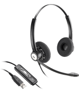 Plantronics Entera BNC HW121N-USB-M – профессиональная USB - стерео-гарнитура, оптимизирована для Microsoft Lync и Skype for Business